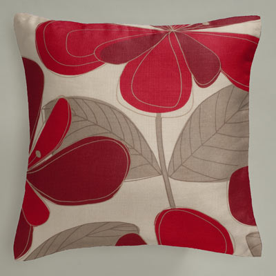 Cushion Details For Autumn Floral Red Next Made To Measure